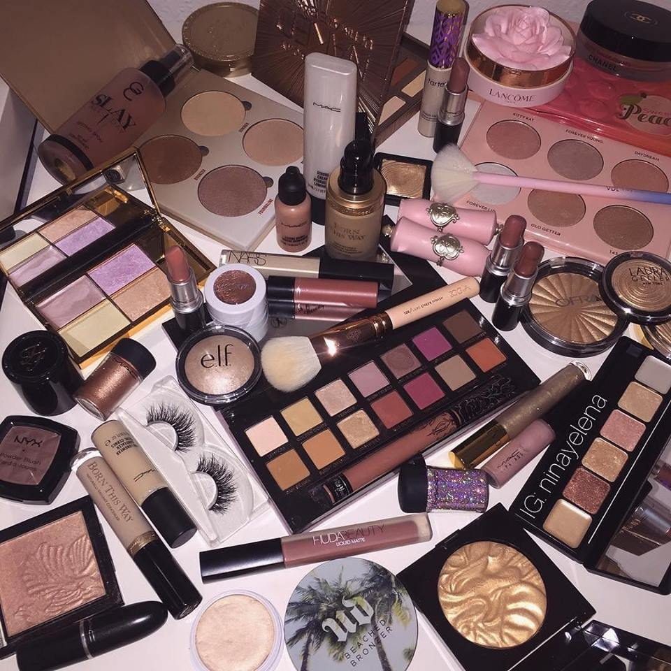 makeup, palette, and cosmetics image