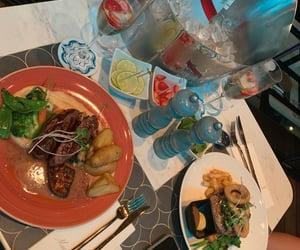 aesthetic, bottle, and dinner image