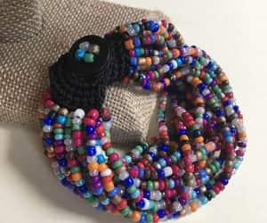 artisan, seed bead bracelet, and boho image