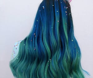 beautiful hair, dark hair, and hair image