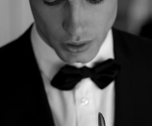 black and white, bowtie, and class image