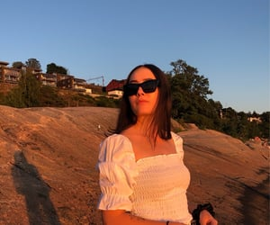 brunette, norway, and sunglasses image