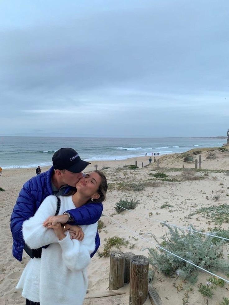 couple, beach, and happy image
