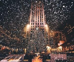 christmastree, holidays and snow