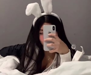 girl, aesthetic, and bunny image