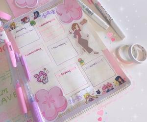 kawaii, pink and purple, and washi tape image