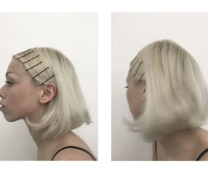 blonde, clips, and girl image