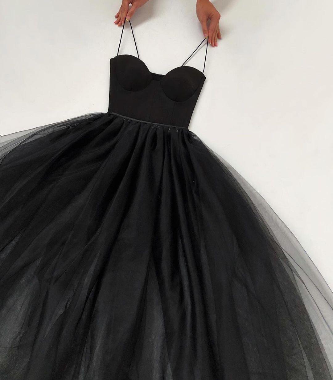 black, dentelle, and dress image