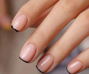 beige, black, and nail polish image