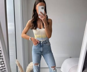 accessories, earrings, and jeans image