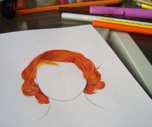 draw, illustration, and hair image