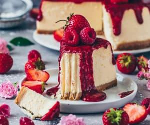 cake sweet, cheesecake, and food image