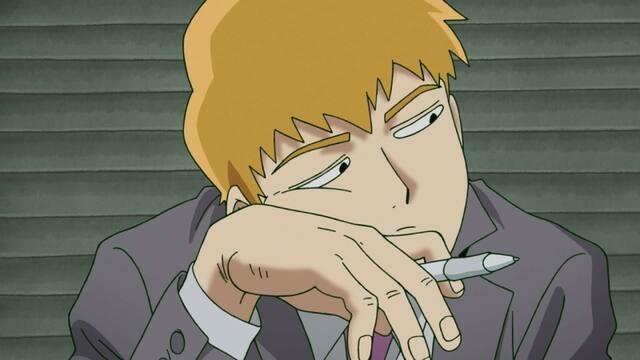 anime, mob psycho, and arataka reigen image