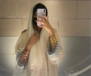 arab, hijab, and abaya image
