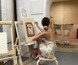 art, people, and woman image