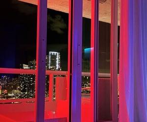 lights, sunset light, and Miami image
