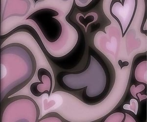 wallpaper, background, and hearts image