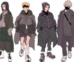 akatsuki, neji, and sasuke uchiha image