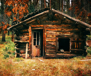 autumn, house, and wood image