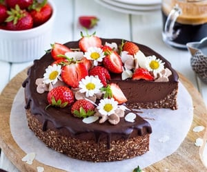 art, cake, and chocolate image