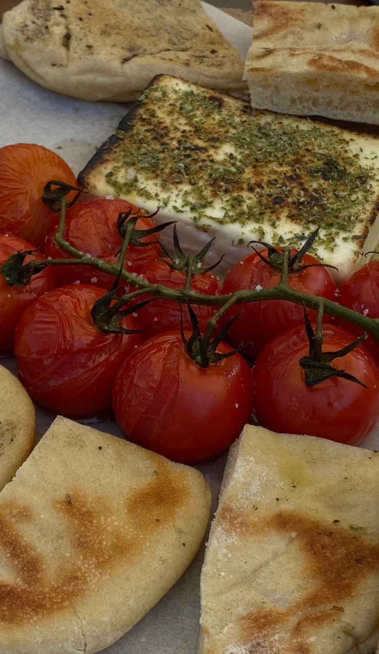 bread, cherry tomatoes, and delicious image