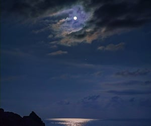 clouds, moonlight, and nighttime image