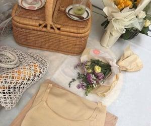 aesthetics, flowers, and basket image