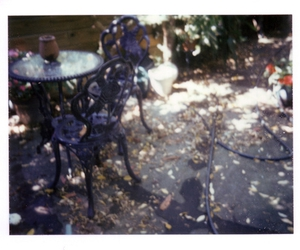 blur, polaroid, and chair image