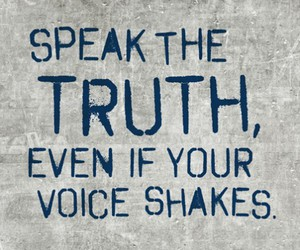 quote, truth, and voice image