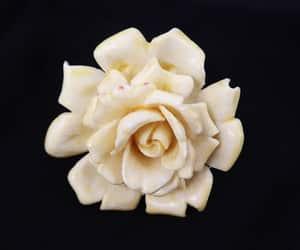 etsy, creamy white, and trifari brooch image