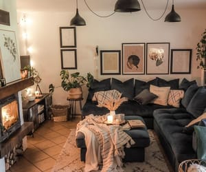 black, Bleu, and living room image