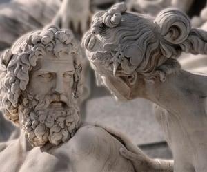 poseidon, statue, and explaining image