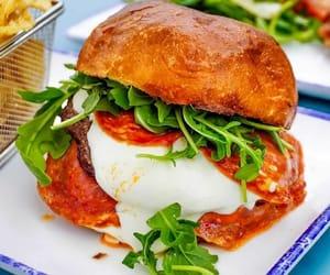 burger, alidoro nyc, and mozzarella cheese image