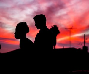 couple, couples, and sunset image