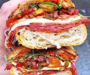 hot pepper, fresh mozzarella cheese, and sandwich image
