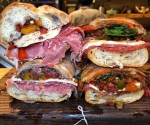 sandwich, arugula, and sopressata image