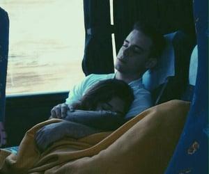 boy, bus, and girl image