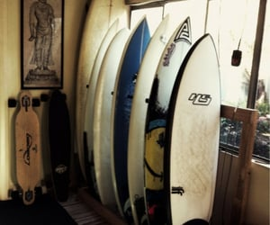 summer, surfboard, and surfing image