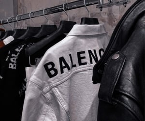 black, white, and Balenciaga image
