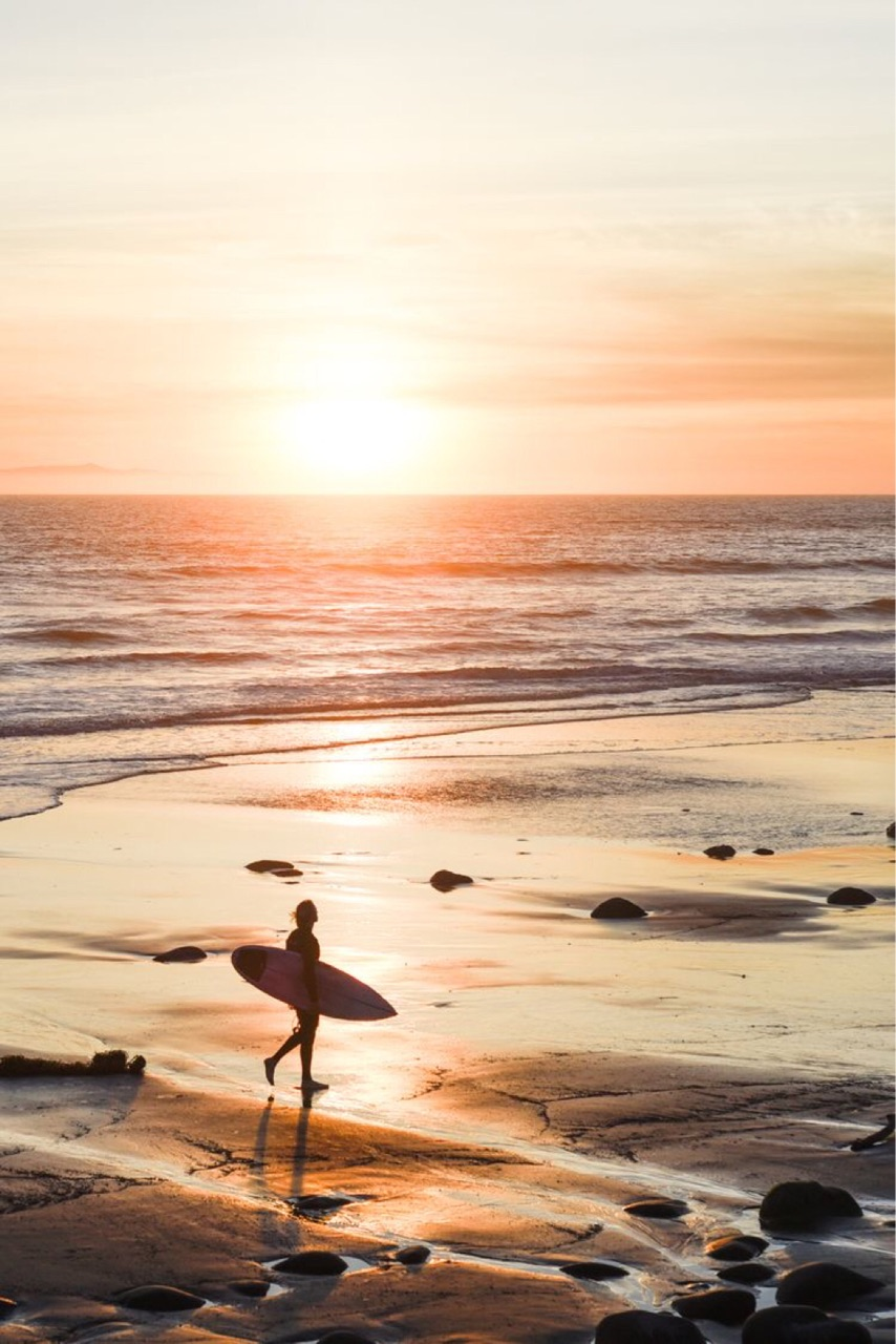 beach, surf, and travel image
