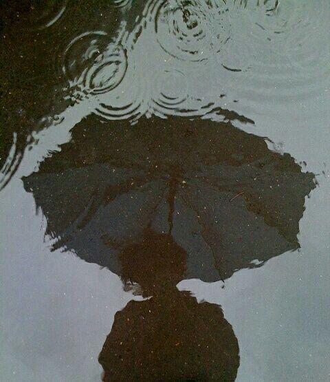 rain, umbrella, and grunge image