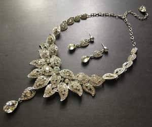 crystal necklace, Prom, and wedding set image