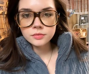 girl, glasses, and women image