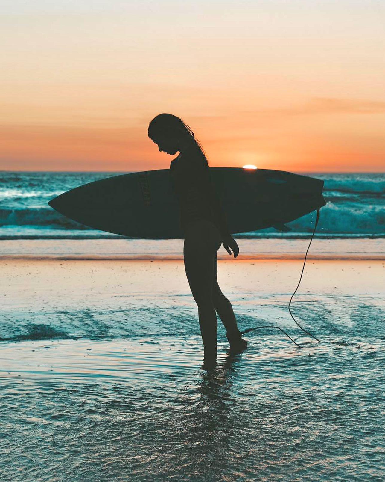 beach, board, and girl image