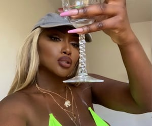 blonde, makeup, and cheers image