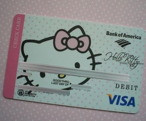 hello kitty, pink, and card image