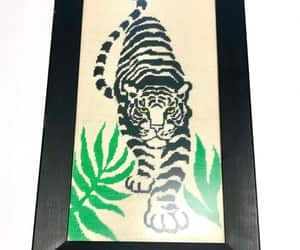 etsy, tiger cross stitch, and tiger picture image