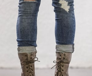 boots, combat boots, and feminine image