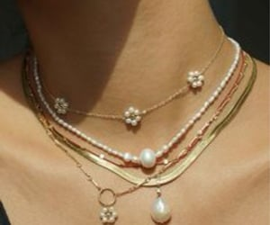 jewelry, pearls, and summer trend image