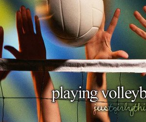 girl, sport, and volleyball image